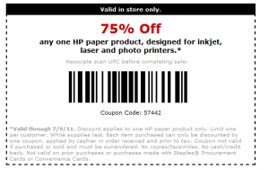25 off 75 staples coupon code